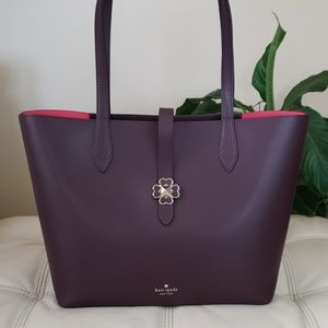 Kate Spade Kaci Medium Tote in Chocolate Cherry
